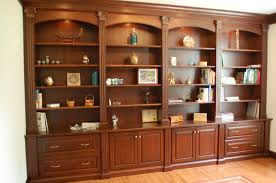 office wall shelving units. Hidden In The Beautifully Stained Wall Unit Are Files, A Printer, Cpu, And Office Shelving Units