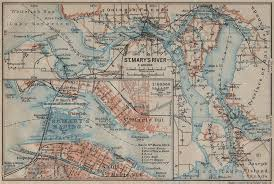 St Marys River Rapids Sault Ste Marie Town Plan Michigan Ontario 1922 Map