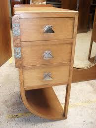 Oak Bedroom Suites Art Deco Oak Wardrobe And Dressing Table Antiques Atlas