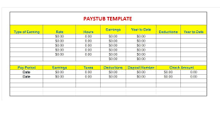 Paycheck Stub Layout 25 Great Pay Stub Paycheck Stub Templates