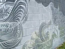 concrete block wall painting ideas