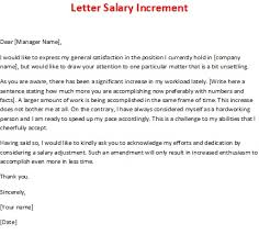 Requesting A Salary Increase Letter Salary Increment