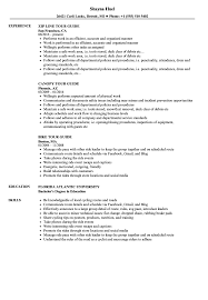 College Tour Guide Job Description Resume