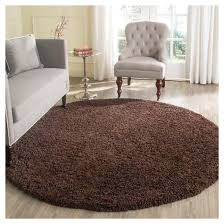 luxurious solid brown round rug of brown solid loomed round area rug 6 7