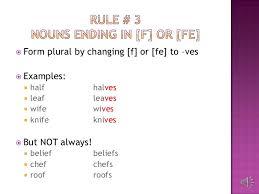 plural form of knife irregular plural nouns
