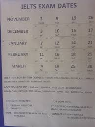english upcoming ielts exam dates