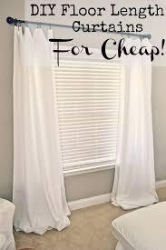 cheap window treatments. Diy Floor Length Curtains For Cheap, Crafts, Reupholster, Window Treatments Cheap Pinterest