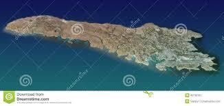 Isola Di Lampedusa Mappa Vista Aerea Illustrazione Di Stock