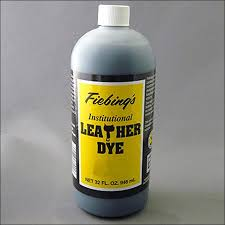 non flammable water based penetrating leather dye formulated for use in hospitals schools prisons and nursing homes manufactured in black medium brown