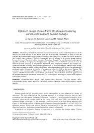 Introduction To Optimum Design Solution Pdf Pdf Optimum Design Of Steel Frame Structures Considering