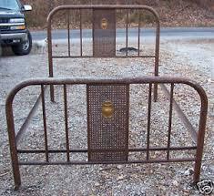 antique iron bed frames. Unique Antique Image Is Loading AntiqueMetalDesignedBedframeOnWheels Intended Antique Iron Bed Frames G