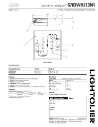 Lightolier 6783wh213n1 Indoor Furnishings User Manual