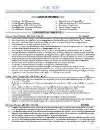 Sample Resume General Manager Best General Manager Resume Example Sports Club Management
