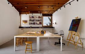 art studio lighting. View In Gallery House-artist-studio-softly-curving-roofline-19-artstudio. Art Studio Lighting V