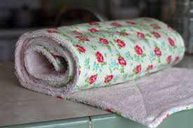 if you have old stained or hole y towels this would be a great way to repurpose them