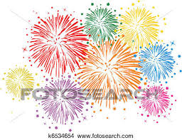 new years fireworks white background. Clipart Vector Colorful Fireworks On White Background Fotosearch Search Clip Art Illustration Intended New Years