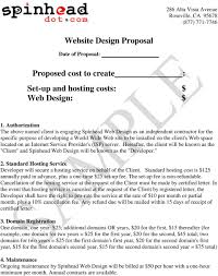Independent Contractor Web Design Website Design Proposal Proposed Cost To Create Set Up