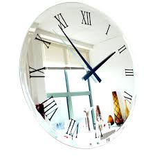 extra large round mirrored wall clock for modern home decoration