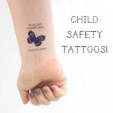 Safety Tattoos Kids Tattoo Child Tattoo Child Safety Child Identification Butterfly Tattoo Travel Tattoo Contact Information Tattoo