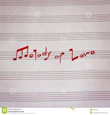 music notes in words melody of love stock image image of word sound text