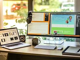 impressive office desk setup. my workspace setup impressive office desk