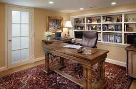 at home office ideas. View In Gallery Small Basement Home Office Design And Decorating Idea At Ideas