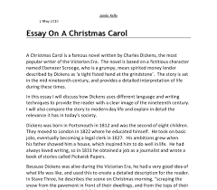 an essay on a christmas carol i will discuss how dickens uses document image preview