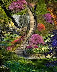 Butchart Garden Stairway | Tuberous begonia, Gardens and Victoria ...