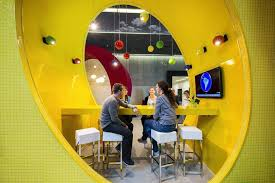 fantastic google office. Awesome Google Hall Of Colors: Fantastic Yellow Booth Shaped O From With Office R