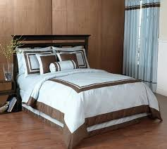 brown bedding blue and chocolate hotel spa collection duvet cover 6 pc bedding set duck egg blue and