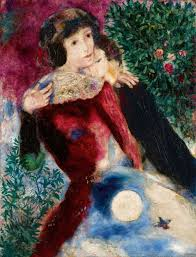 marc chagall les amoureux 1928 courtesy sotheby s 2017 artists rights