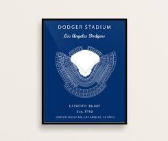 Dodger Stadium Seating Chart 2018 Dodger Stadium Seating Chart Los Angeles Dodgers Dodger Stadium Sign Poster Dodger Field Print Christmas Gift For Dodgers Fan Vintage