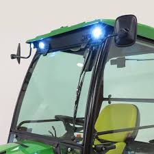 cozy cab cab to fit john deere x signature series tractor front led light kit