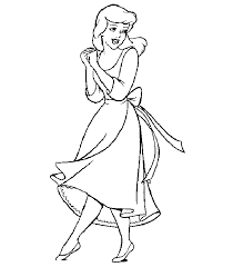 Cinderella Coloring Pages Cinderella Disney Cute Princess 8