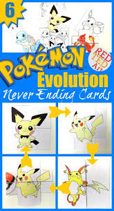 fun with diy pokemon evolution cards print emble colour and watch them change