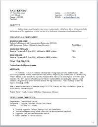 Inspirational Electronics Resume Sample And Electronic Resume