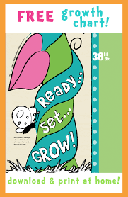 Free Printable Growth Chart Can Print In Sections Or Take