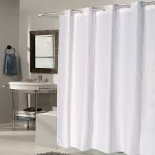 ez on white check fabric shower curtain liner with builtin hooks 70 white fabric shower curtains e36 shower
