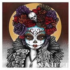 5D <b>Diamond</b> Painting <b>Skulls</b> and Roses <b>Moon</b> Kit   Dibujo dia de ...
