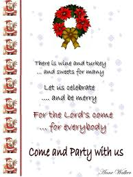 Christmas Party Invitation Wording From Christmas Combined With