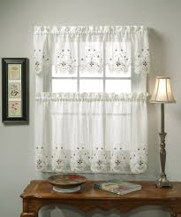white kitchen curtain patterns how to hang kitchen curtain