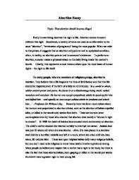 good essay on why abortion should be illegal abortion abortion should be illegal term paper 6389