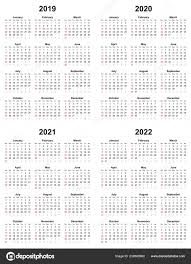 Plain Calendar 2020 Annual Plain Calendar Sunday First Day 2022 2021 2020 2019