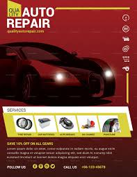 Auto Repair Flyer Auto Repair Flyer Template