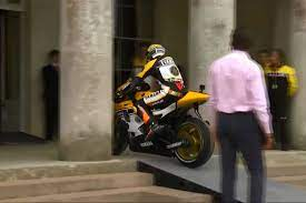 Check spelling or type a new query. Valentino Rossi Rides Up Steps And Through Doors Of Goo Visordown