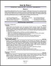 Immigration Paralegal Job Description Resume