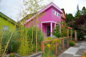 tiny house neighborhood. Had I Thought About It, Might Not Have Packed A Lime Green Shirt To Stay In Pink Painted House. But Portland\u0027s Boise Neighborhood, Color Is Waved Tiny House Neighborhood
