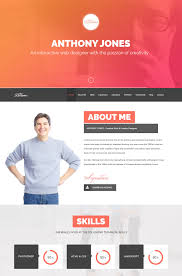 Resume Website Template Gorgeous Resume Web Template