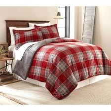 red velvet bedding plaid plush print reversible comforter set quilt cover
