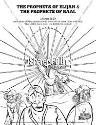 Elijah The Prophet 1 Kings 18 Sunday School Coloring Pages Sunday